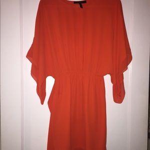 Orange BCBG dress